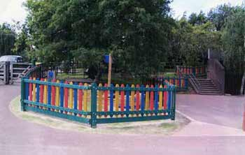 fenced school play area